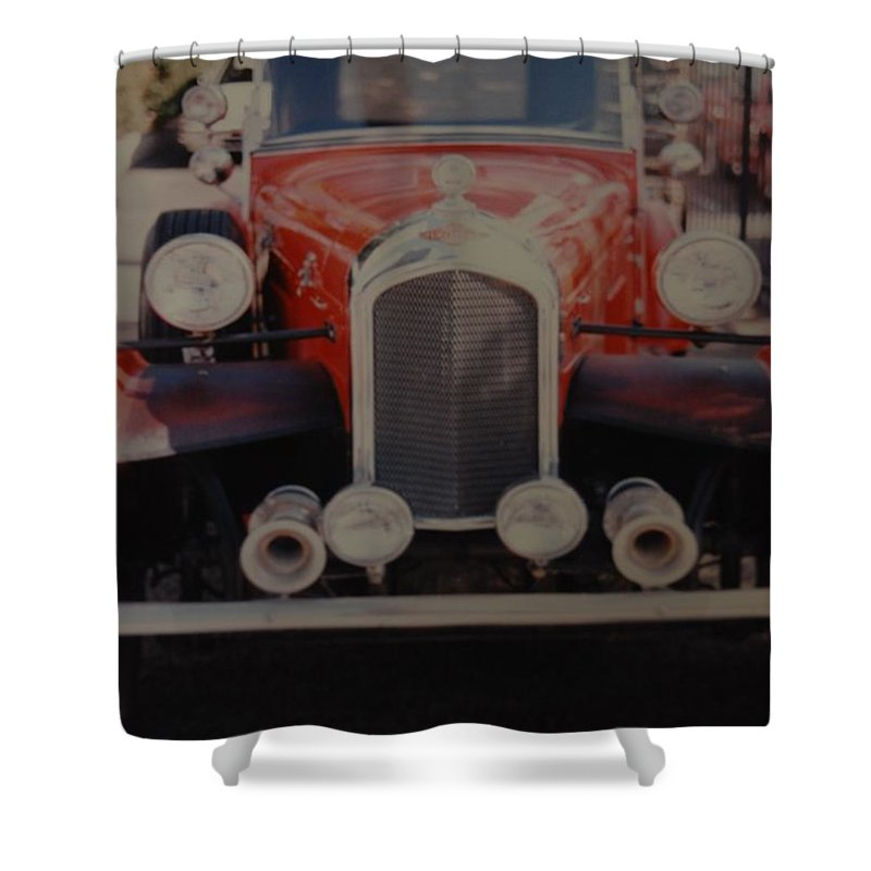 Car Shower Curtain featuring the photograph 1932 by Rob Hans