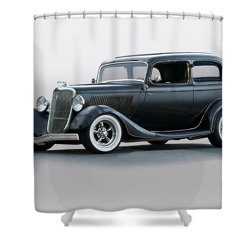 Auto Shower Curtain featuring the photograph 1934 Ford 'victoria' Coupe by Dave Koontz