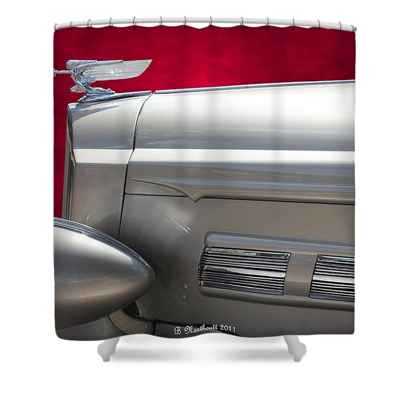 1937 Shower Curtain featuring the photograph 1937 Packard by Betty Northcutt