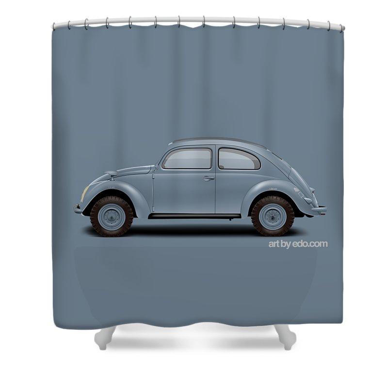 Kdf Shower Curtain Featuring The Digital Art 1945 Type 87 Kommandeurwagen