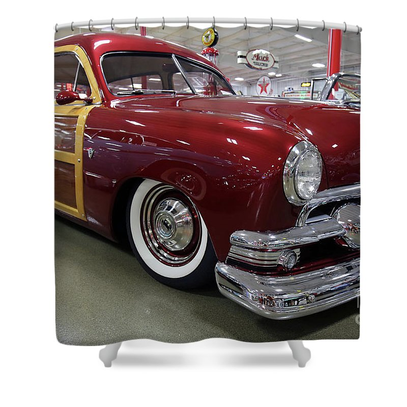 Ford Shower Curtain featuring the photograph 1951 Ford Woody Wagon by Steve Gass