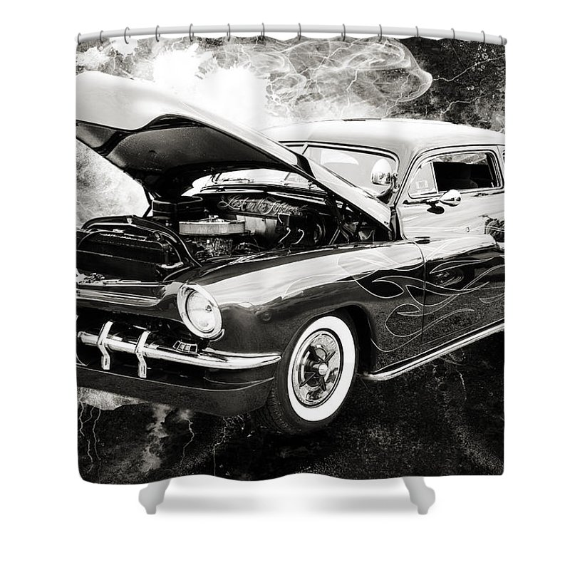 1951 Mercury Shower Curtain featuring the photograph 1951 Mercury Classic Car Photograph 001.01 by M K Miller