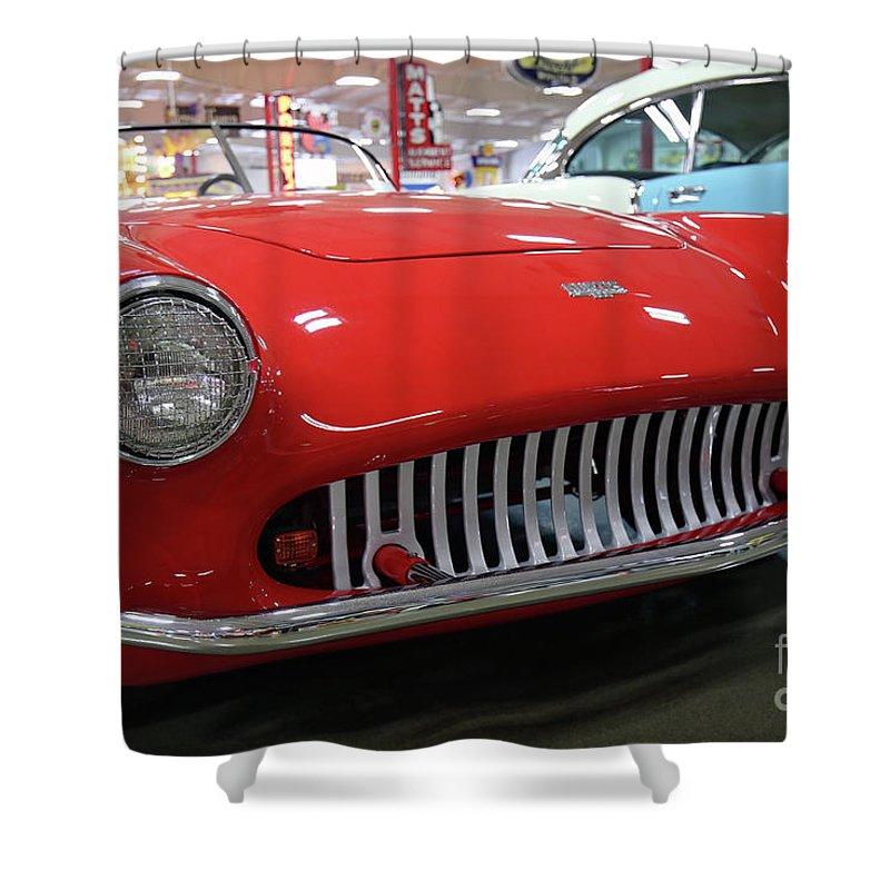 Kurtis Shower Curtain featuring the photograph 1954 Kurtis 500m Automobile by Steve Gass