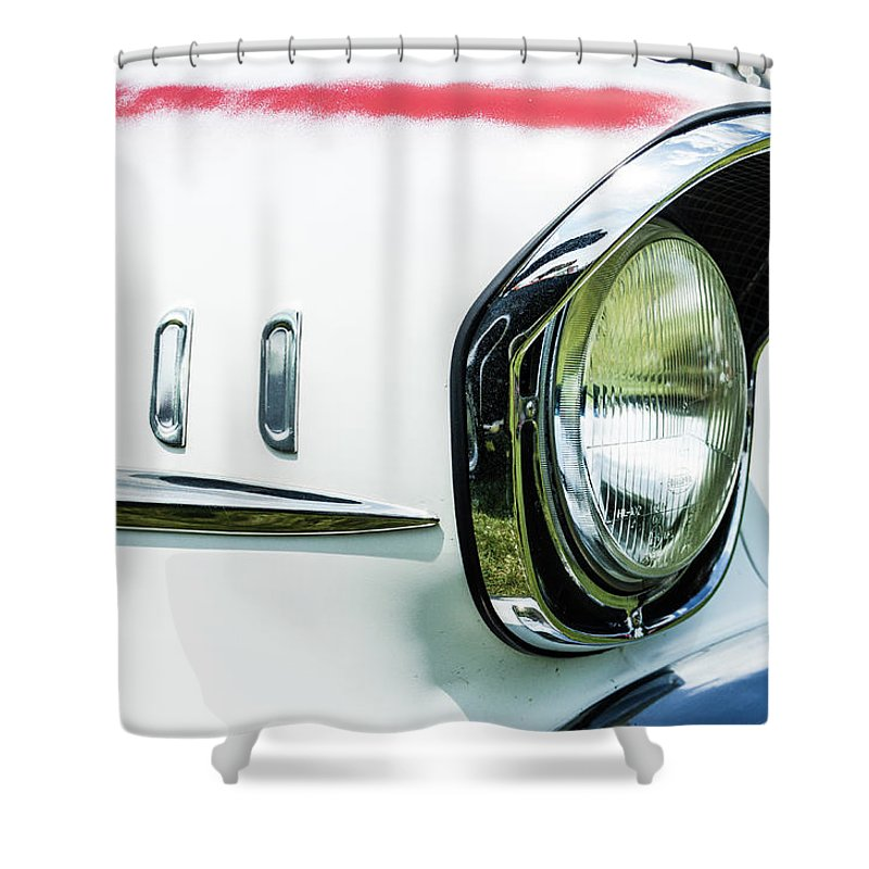 Gaetano Chieffo Shower Curtain featuring the photograph 1957 Chevy 210 by Gaetano Chieffo