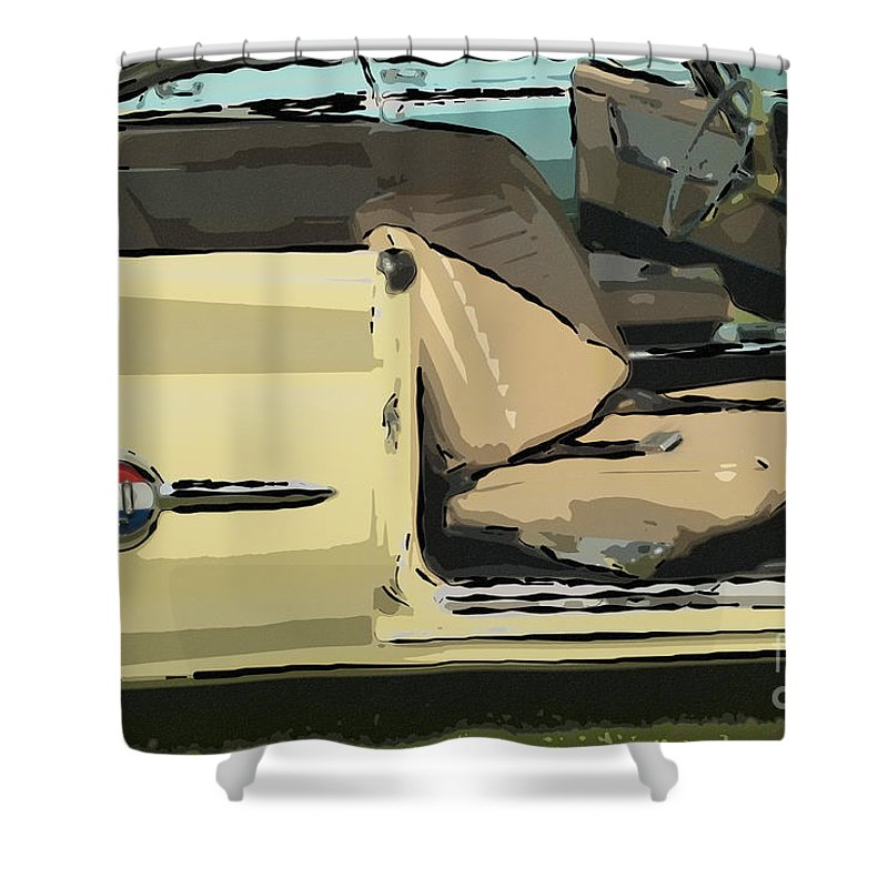 1960 Chrysler 300-f Muscle Car American Automobile Shower Curtain featuring the photograph 1960 Chrysler 300-f Muscle Car by David Zanzinger