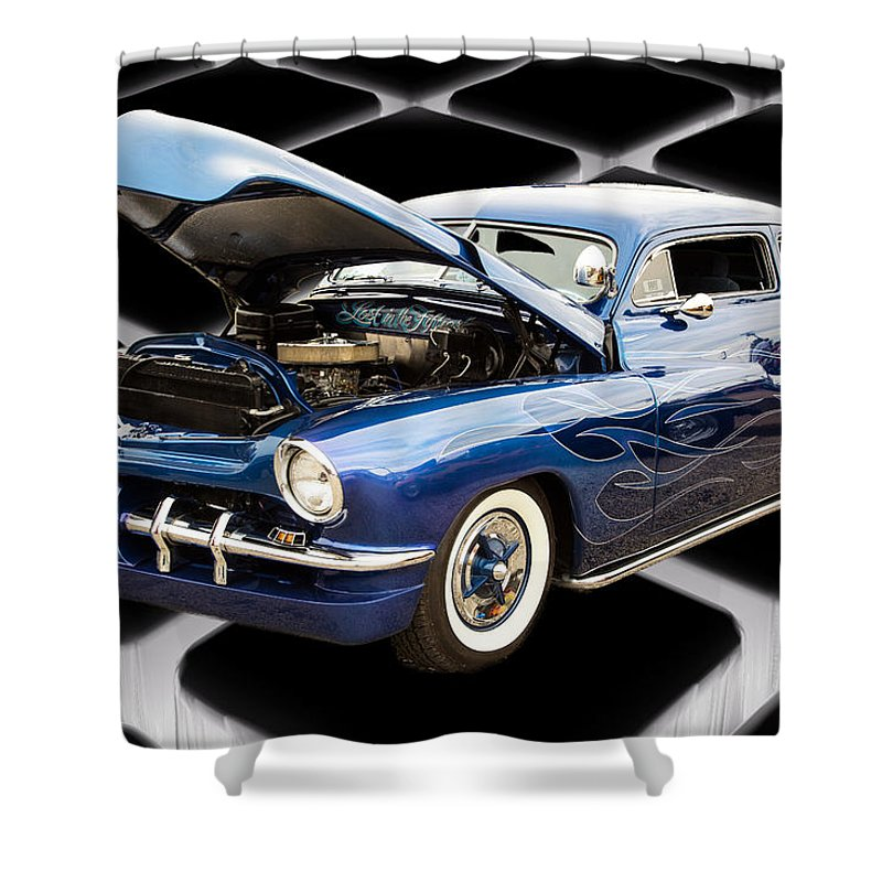 1951 Mercury Shower Curtain featuring the photograph 1951 Mercury Classic Car Photograph 002.02 by M K Miller