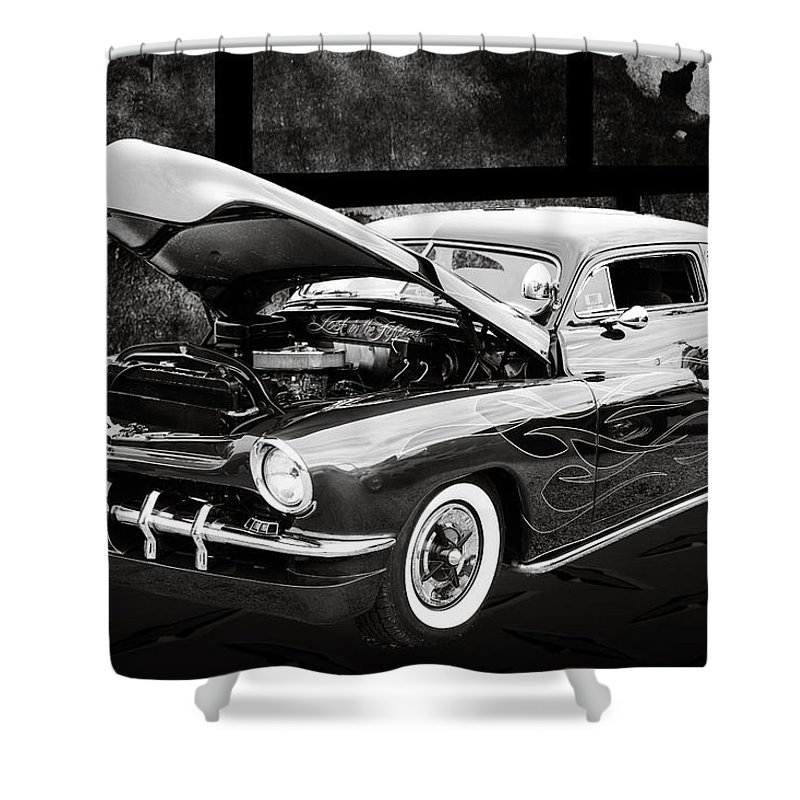 1951 Mercury Shower Curtain featuring the photograph 1951 Mercury Classic Car Photograph 004.01 by M K Miller