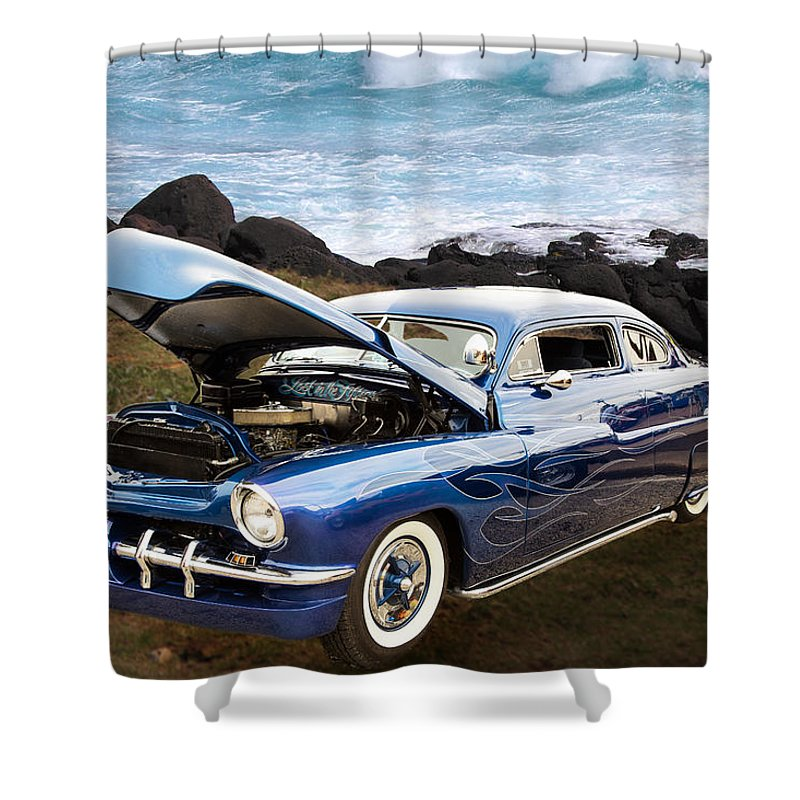 1951 Mercury Shower Curtain featuring the photograph 1951 Mercury Classic Car Photograph 005.02 by M K Miller
