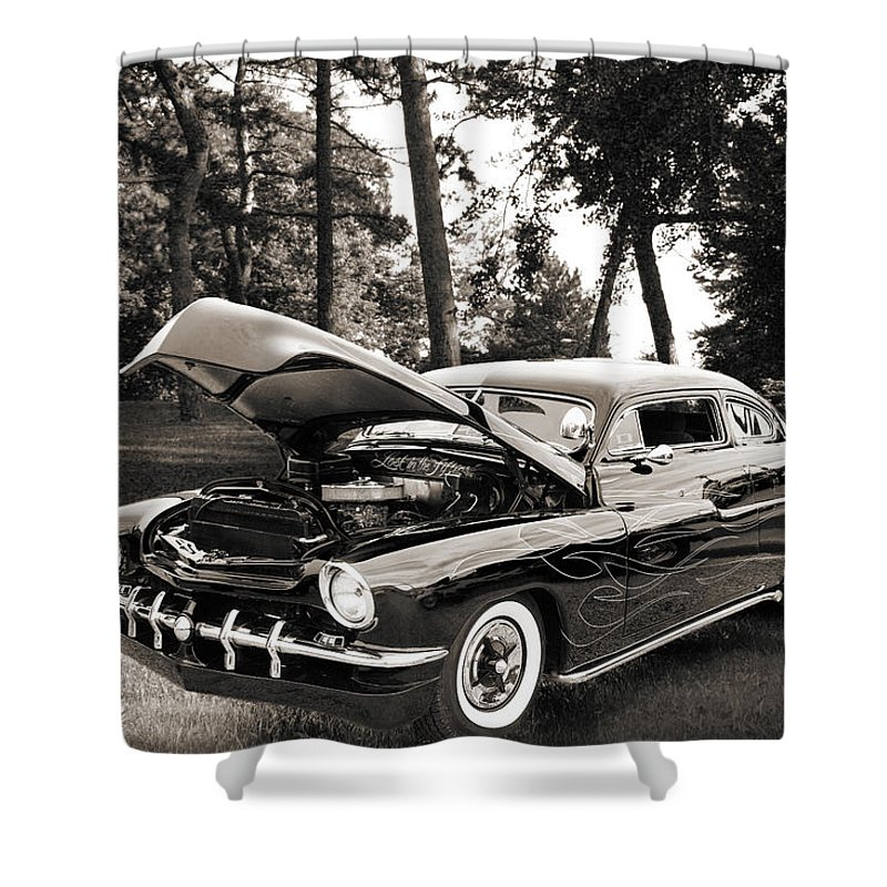 1951 Mercury Shower Curtain featuring the photograph 1951 Mercury Classic Car Photograph 006.01 by M K Miller