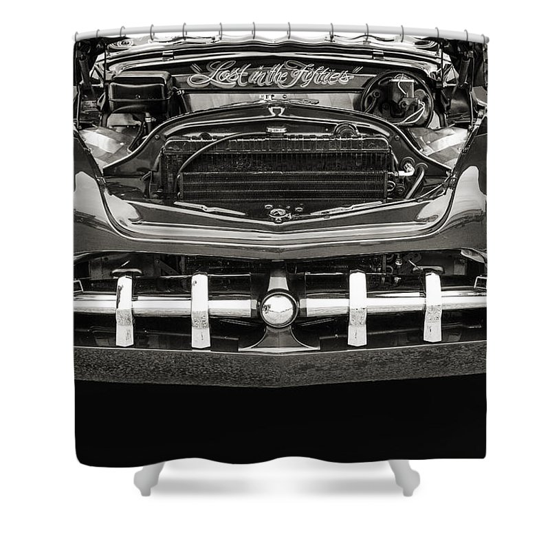 1951 Mercury Shower Curtain featuring the photograph 1951 Mercury Classic Car Photograph 011.01 by M K Miller