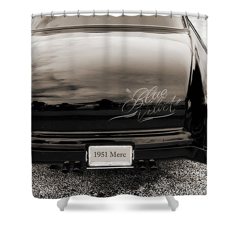 1951 Mercury Shower Curtain featuring the photograph 1951 Mercury Classic Car Photograph 018.01 by M K Miller
