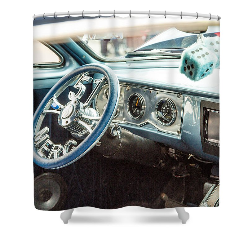 1951 Mercury Shower Curtain featuring the photograph 1961 Mercury Classic Car Photograph 021.02 by M K Miller