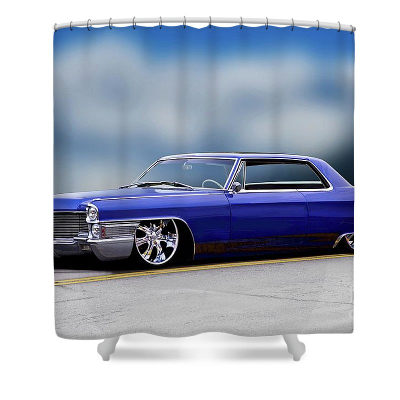 Custom Cadillac Deville For Sale: 1966 Cadillac Custom Coupe Deville Shower Curtain For Sale