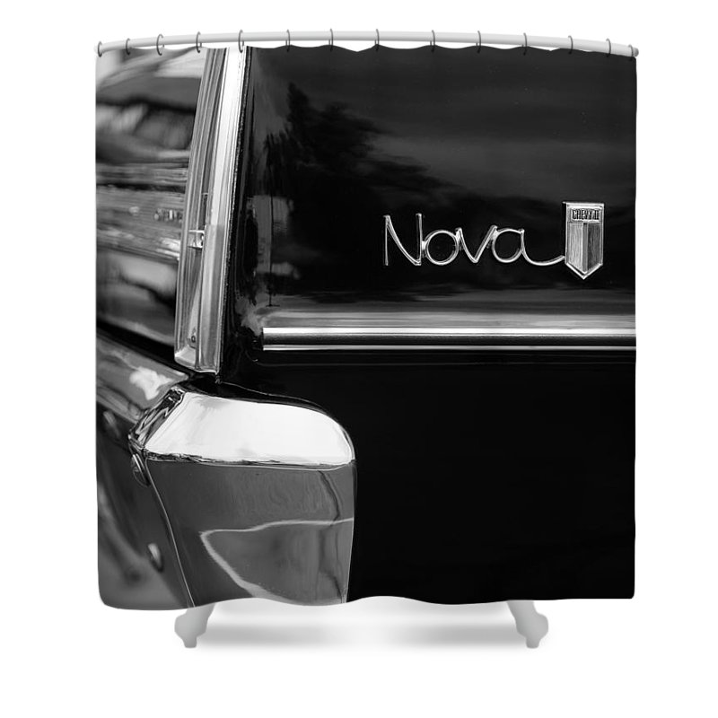 Chevy Shower Curtain featuring the photograph 1966 Chevy Nova II by Gordon Dean II