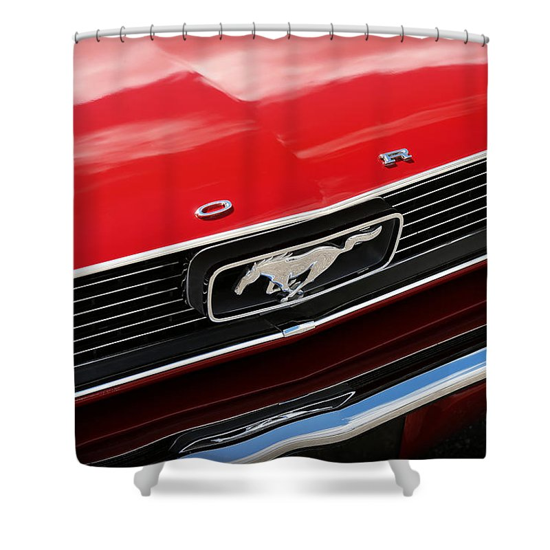 1966 Shower Curtain Featuring The Photograph Ford Mustang By Gordon Dean II