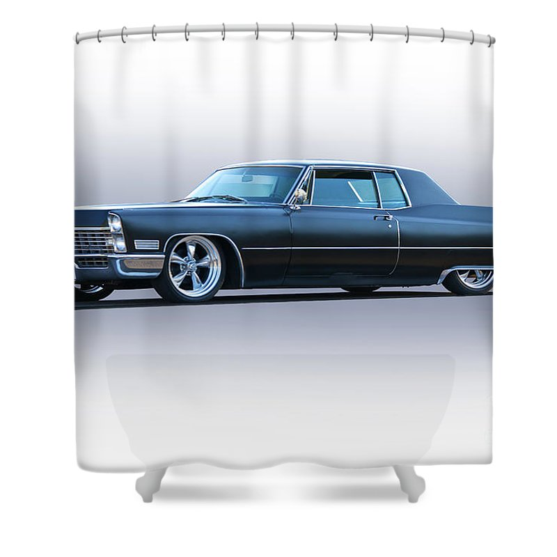 1967 Cadillac Custom Coupe DeVille Shower Curtain For Sale