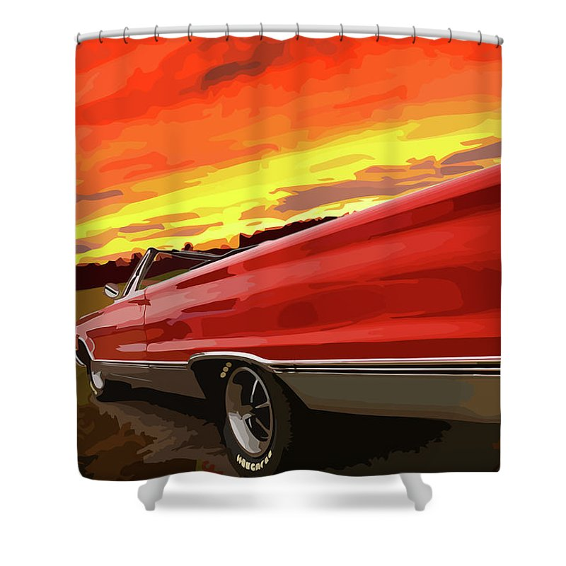 426 Shower Curtain featuring the photograph 1967 Plymouth Satellite Convertible by Gordon Dean II