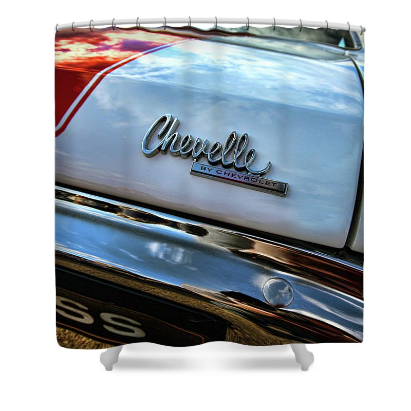 1970 Shower Curtain featuring the photograph 1970 Chevy Chevelle Ss 396 Ss396 by Gordon Dean II