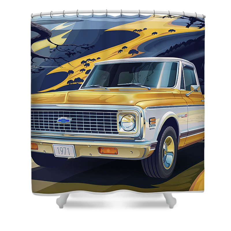 Chevy Truck Shower Curtains