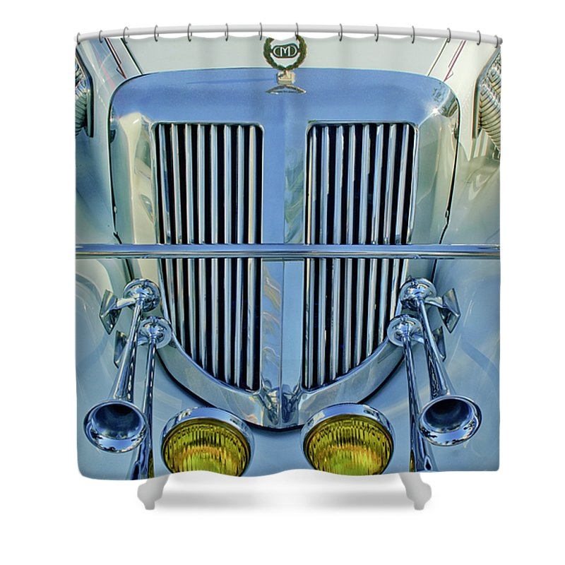 1985 Tiffany Coupe Shower Curtain featuring the photograph 1985 Tiffany Coupe Grille by Jill Reger