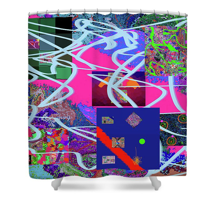 Walter Paul Bebirian Shower Curtain featuring the digital art 2-14-2015a by Walter Paul Bebirian