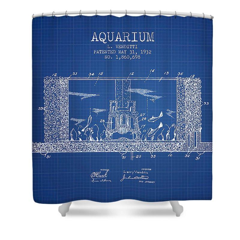 Fish Bowl Shower Curtain Featuring The Digital Art 1932 Aquarium Patent