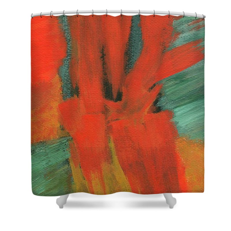 Abstract Shower Curtain featuring the painting A Moment In Time by Itaya Lightbourne