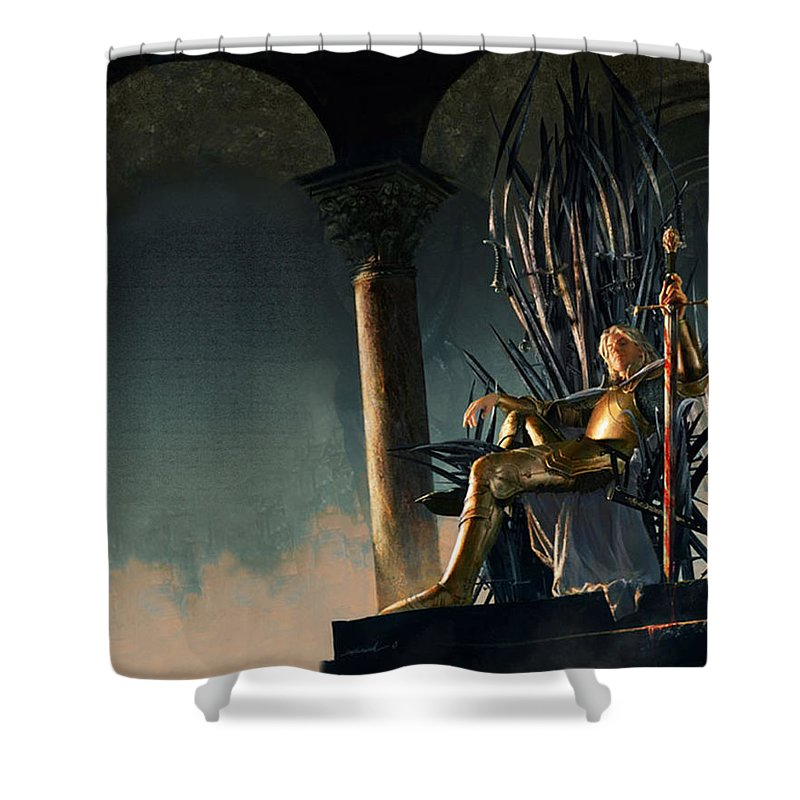 A Song Of Ice And Fire Shower Curtain featuring the digital art A Song Of Ice And Fire by Mery Moon