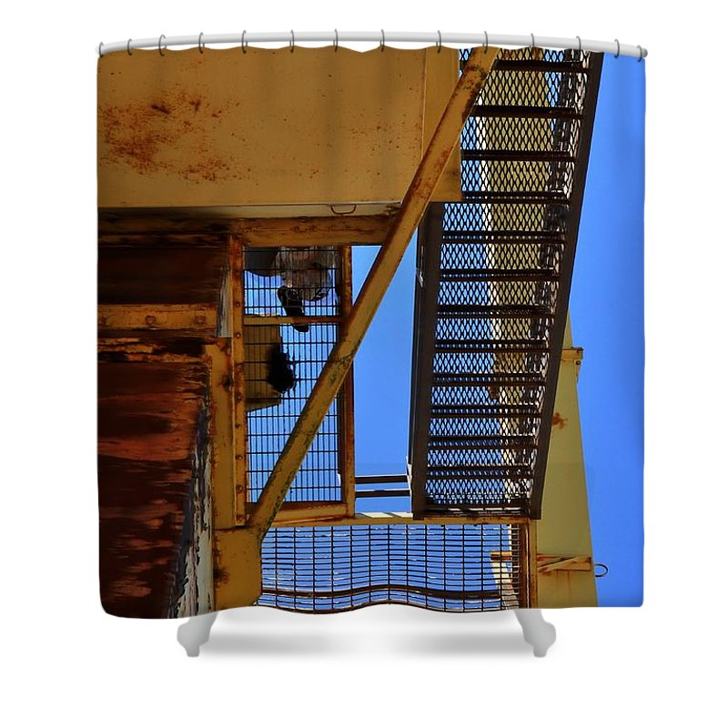 Abandoned Shower Curtain featuring the photograph Abandoned Quarry by David Kelso