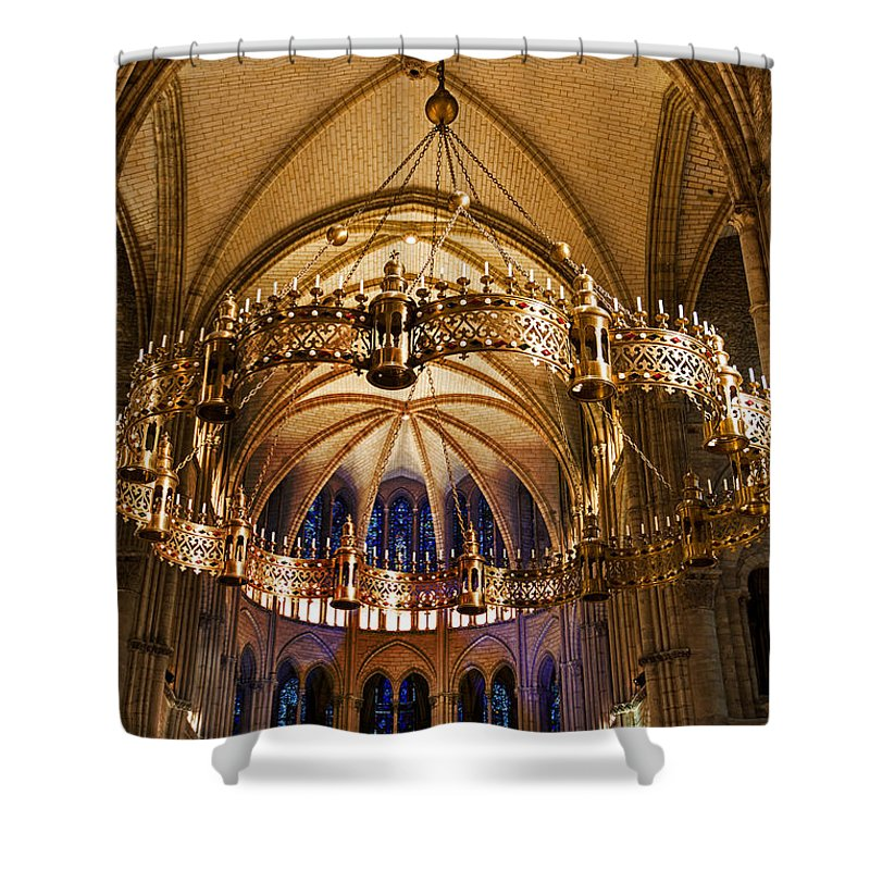 Abbey Of Saint-remi Reims Shower Curtain featuring the photograph Abbey Of Saint - Remi Reims by Yefim Bam