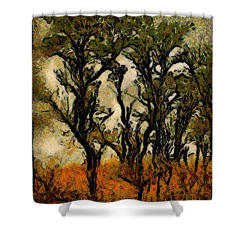 Tree Shower Curtain featuring the photograph Abstract Tree by Galeria Trompiz