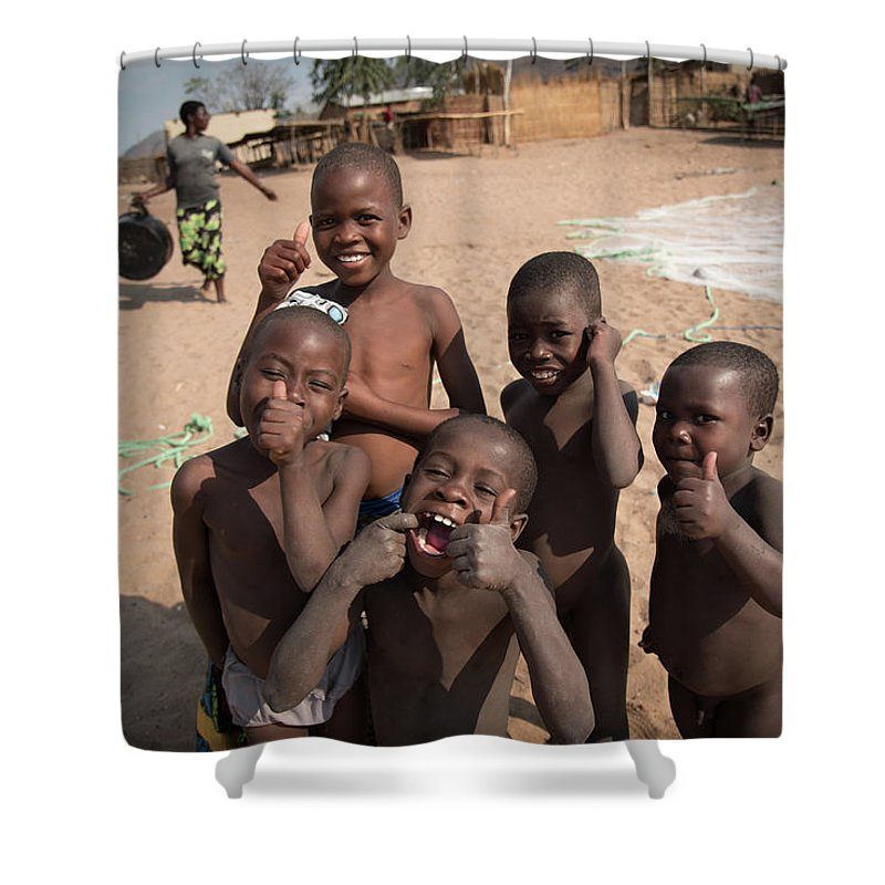 African Children Shower Curtain featuring the photograph Africa's Children by Gareth Pickering