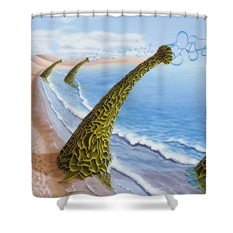 Tree Shower Curtain featuring the painting Agaricia Bullio by Patricia Van Lubeck