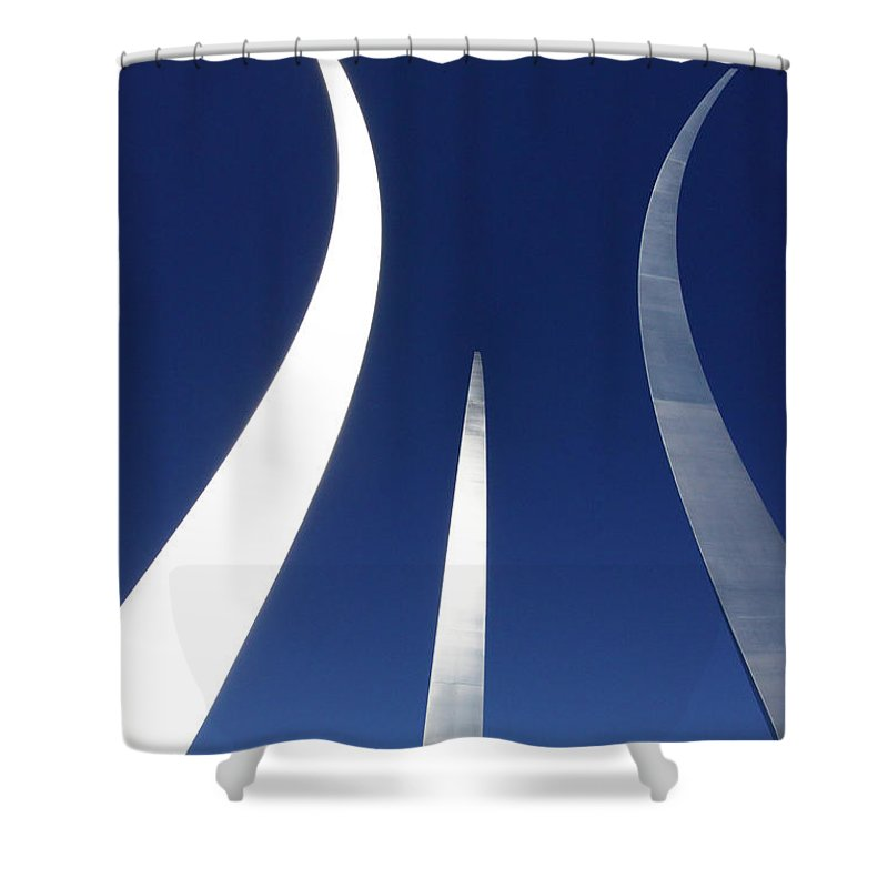 Air Force Memorial Shower Curtain featuring the photograph Air Force Monument - Arlington by Paul W Faust - Impressions of Light