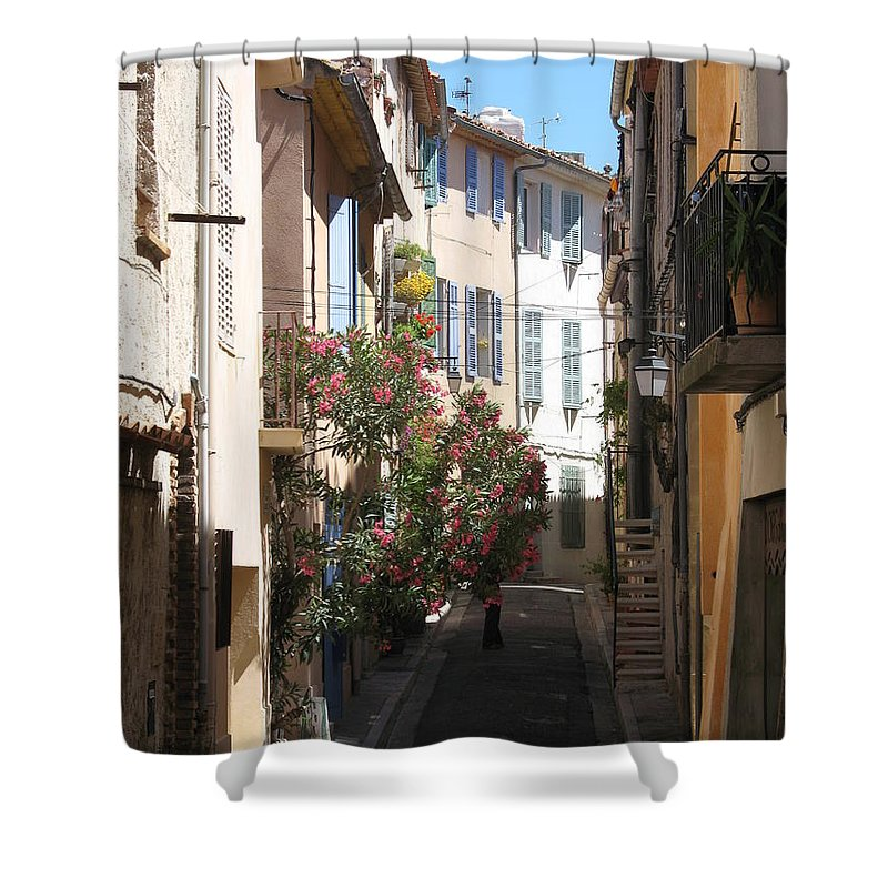 Alley Shower Curtain featuring the photograph Alley - Provence by Christiane Schulze Art And Photography