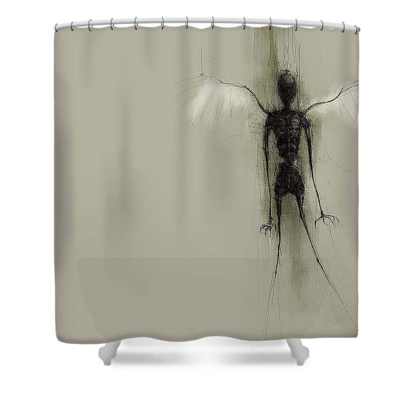 Angel Shower Curtain featuring the digital art Angel by Mery Moon