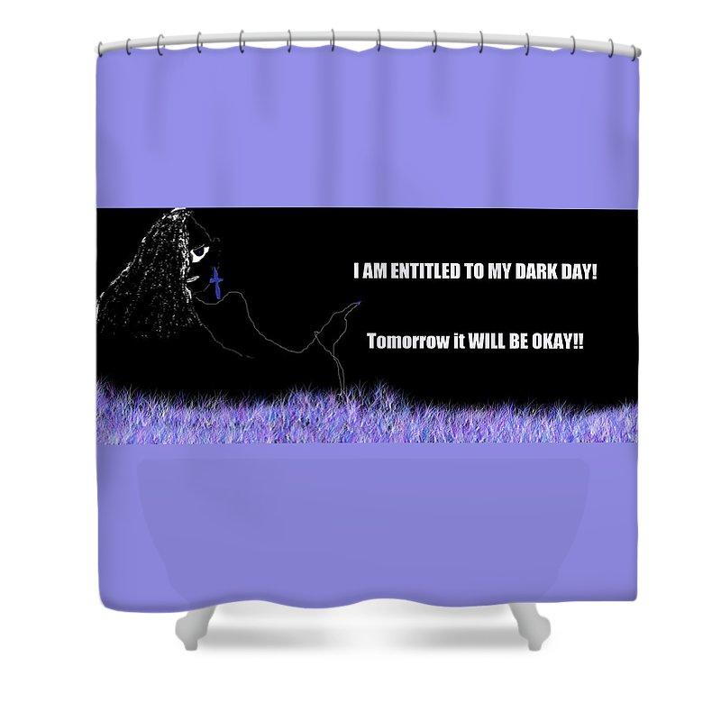 Inspirational Shower Curtain featuring the digital art Aringa Creations by Deidre Dorsett