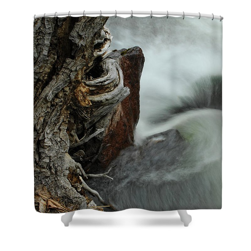 Water Shower Curtain featuring the photograph Around The Bend by Donna Blackhall