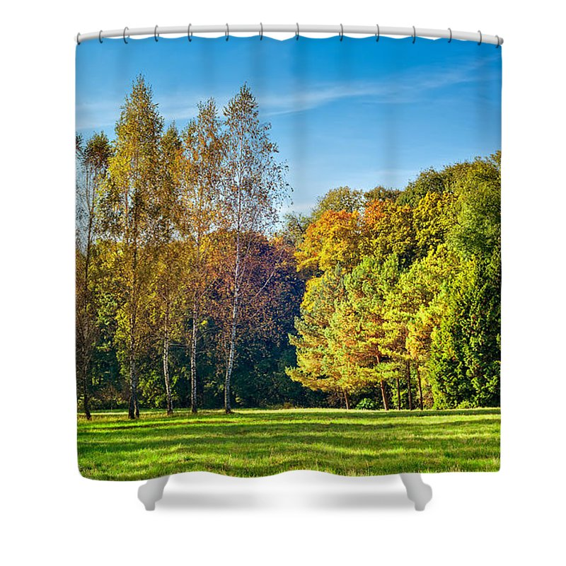 Kiev Shower Curtain featuring the photograph Autumn Colors Of Nature by Serhii Simonov