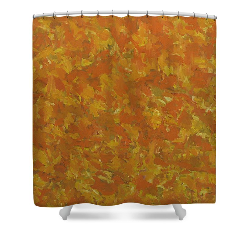 Sunlight Shower Curtain featuring the painting Autumn by Robert Nizamov