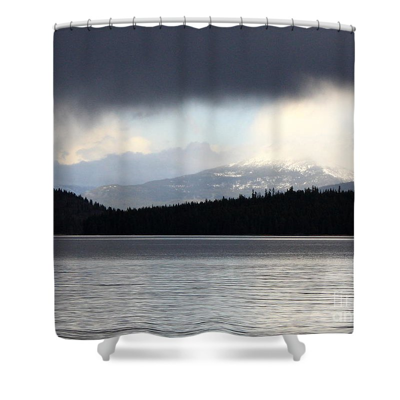 Clouds Shower Curtain featuring the photograph Balance In Nature by Carol Groenen