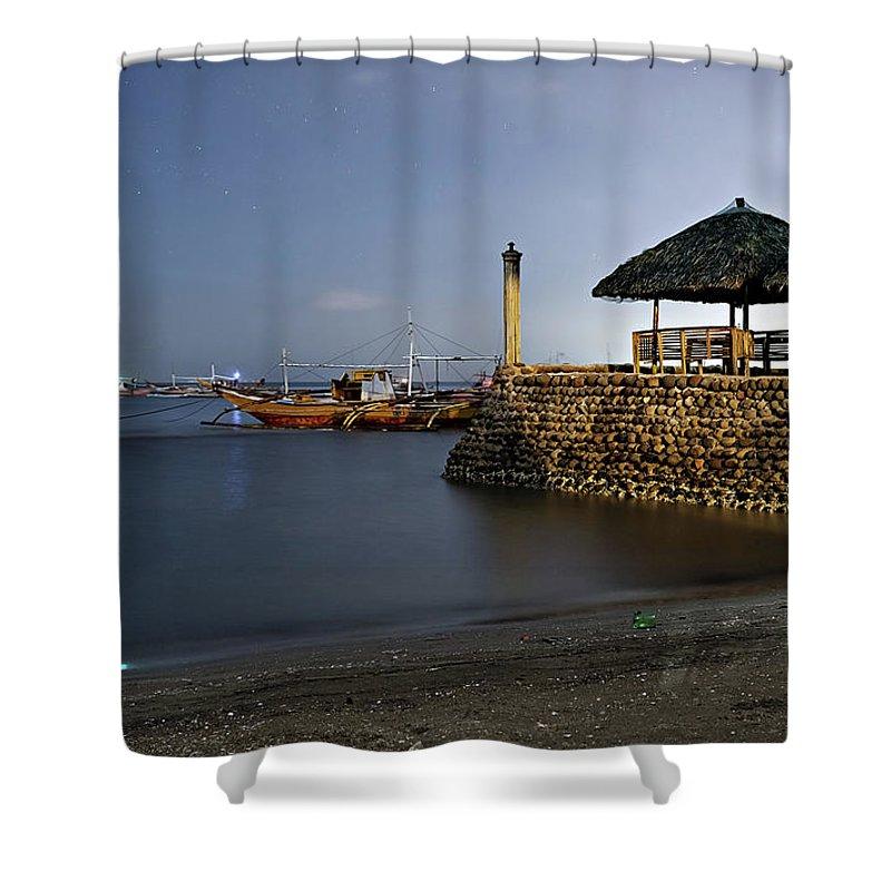 Beach Shower Curtain featuring the photograph Beach Front by Lik Batonboot
