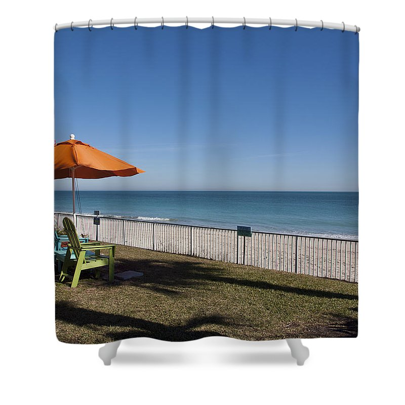Florida Shower Curtain featuring the photograph Beachland Boulevard At Vero Beach In Florida by Allan Hughes