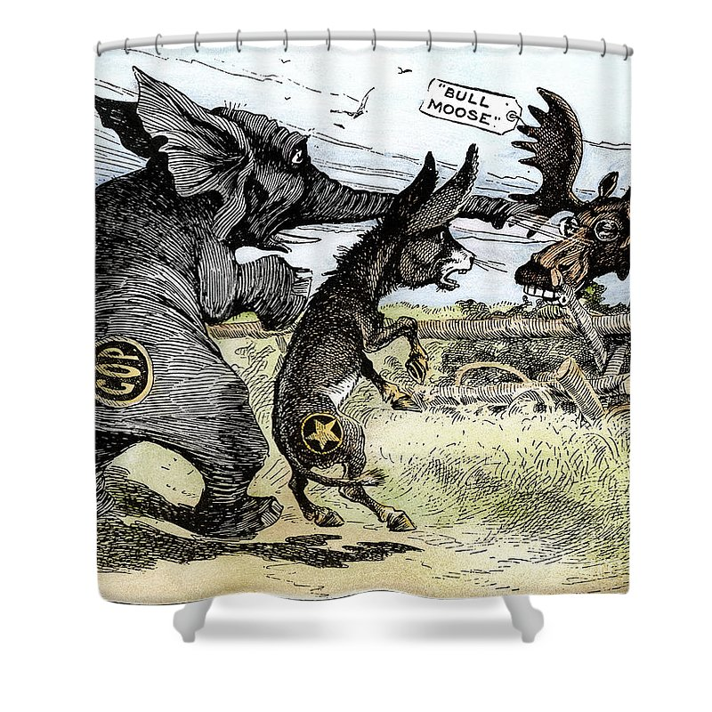 1912 Shower Curtain featuring the photograph Bull Moose Campaign, 1912 by Granger