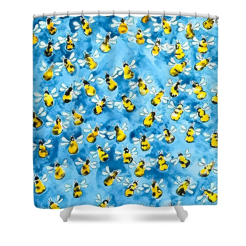 Bee Hive Shower Curtains