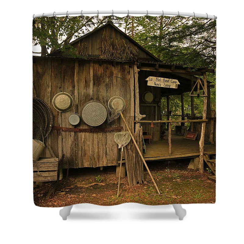 Cajun Cabin Shower Curtain for Sale by Ronald Olivier