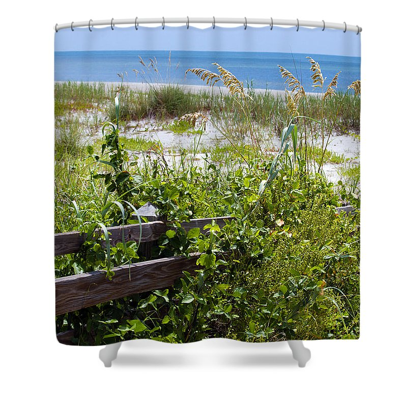Florida; Beach; Ocean; Waves; Wave; Surf; Sand; Sandy; Coast; Shore; Atlantic; Cape; Canaveral; Scen Shower Curtain featuring the photograph Cape Canaveral Florida by Allan Hughes
