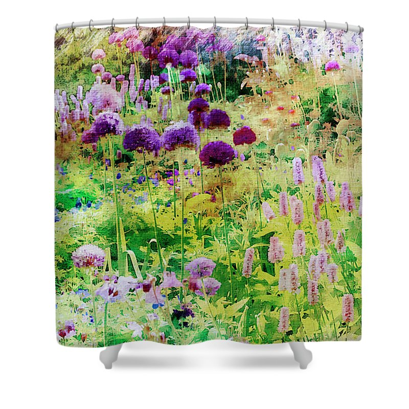 Garden Shower Curtain featuring the photograph Castle Gardens by Margie Wildblood