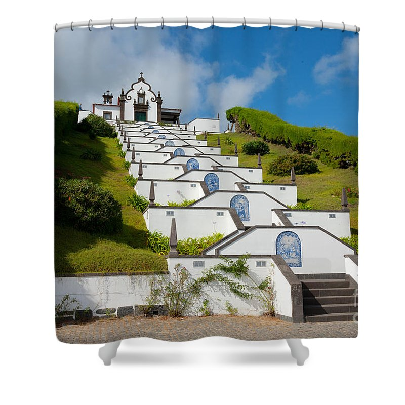 Sao Miguel Shower Curtain featuring the photograph Chapel In Azores Islands 2 by Gaspar Avila