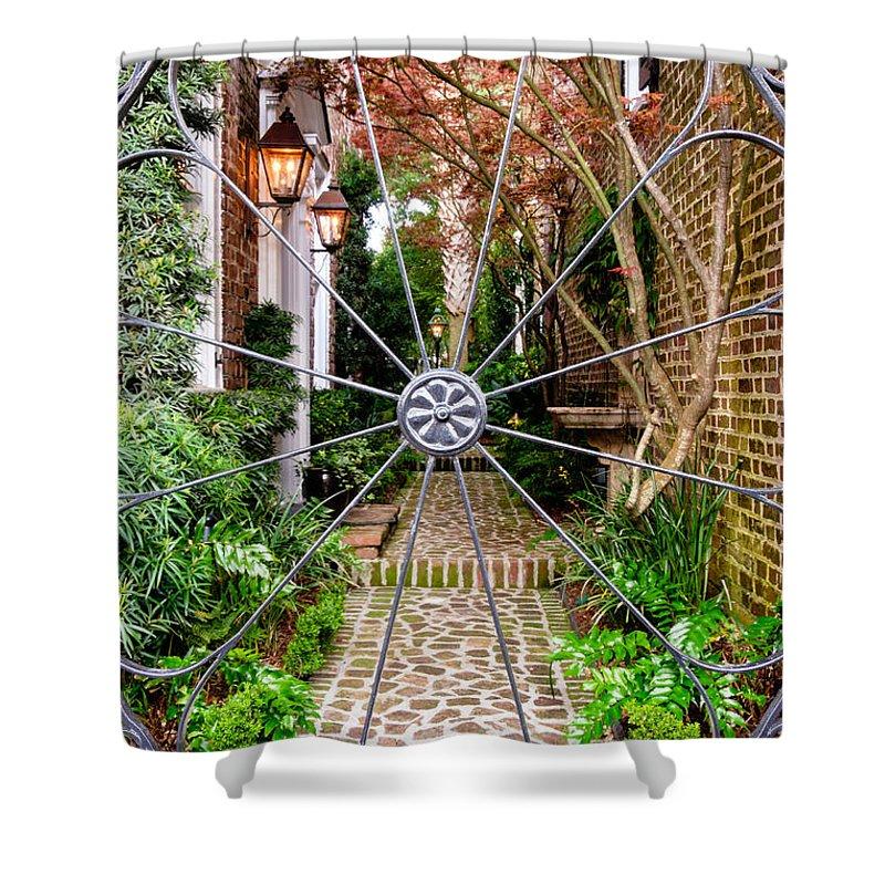 Charleston Garden Shower Curtain featuring the photograph Charleston Gated Garden by Dawna Moore Photography